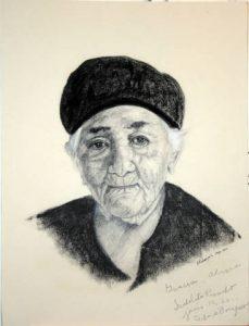 Charcoal drawing of Isabel Rosado