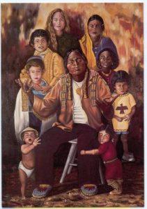 Painting of Sitting Bull & his children