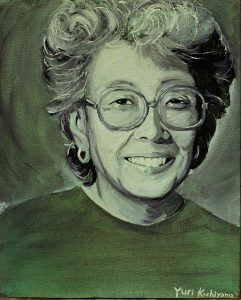 Painting of Yuri Kochiyama smiling.